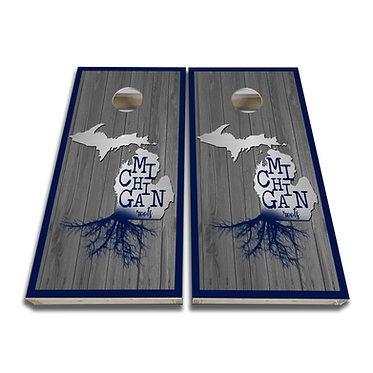 Michigan Cornhole Michigan Roots Cornhole Decal Wrap