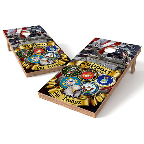 Support Our Troops Cornhole Wrap