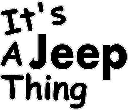 It's A Jeep Thing Cornhole Decal Sticker