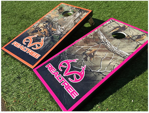 REALTREE CORNHOLE BOARD Set - Includes Bags - Free Shipping