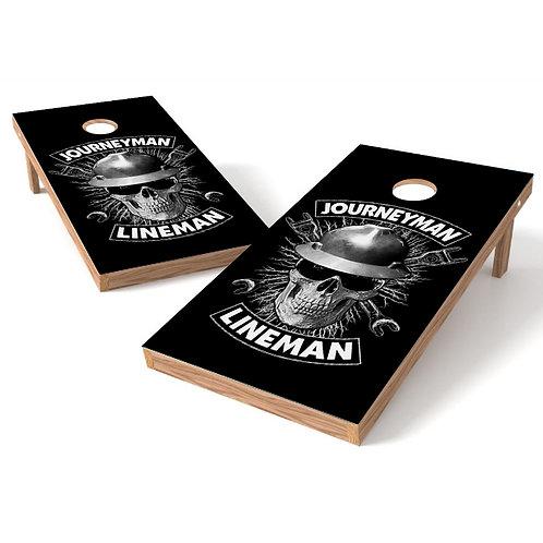 Journeyman Lineman Direct to Wood Print Cornhole Board Set