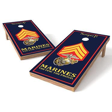 Marines Rank Military Cornhole Wrap