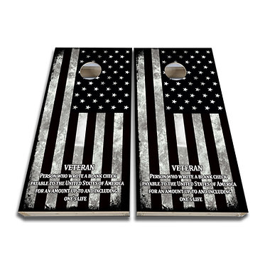 Veteran Cornhole Design Veteran Cornhole decal wrap
