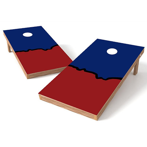 House Divided Template Cornhole Board Wrap - Add Logo