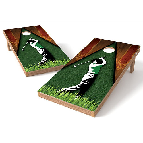 Golf Swing Wood Cornhole Board Baggo Bag Toss Cornhole Wrap