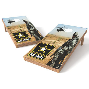 US ARMY Helicopter Military Cornhole Wrap