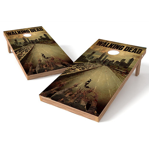 Walking Dead 1 Cornhole Board Wrap