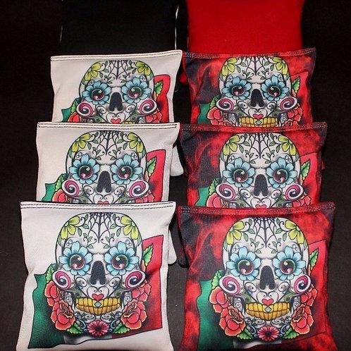 copSugar Skull Day of the Dead Cornhole bags, set of (8)