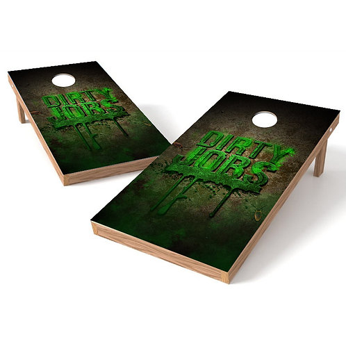 Dirty Jobs Cornhole Board Wrap