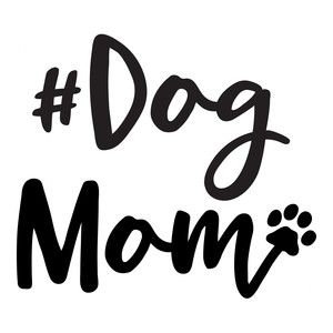 #dogmom Cornhole Decal Sticker