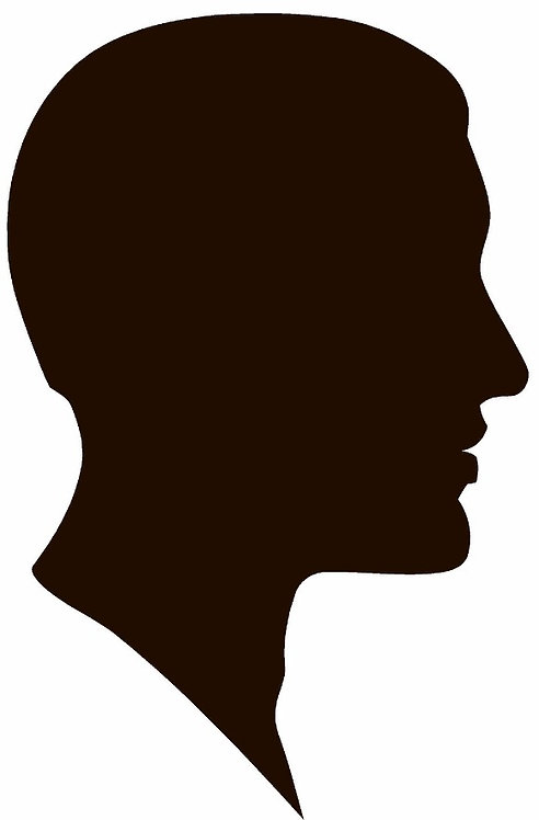 Male Head Silhouette Decal Sticker