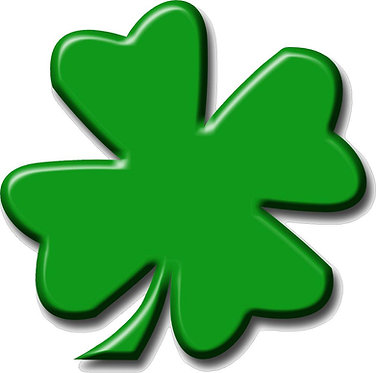 Four Leaf Clover Cornhole Board Decal Sticker