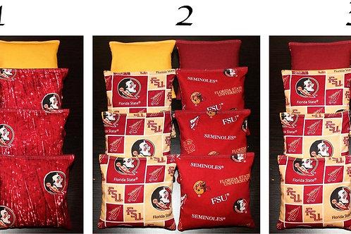 Florida State Seminoles Cornhole bags, set of (8)