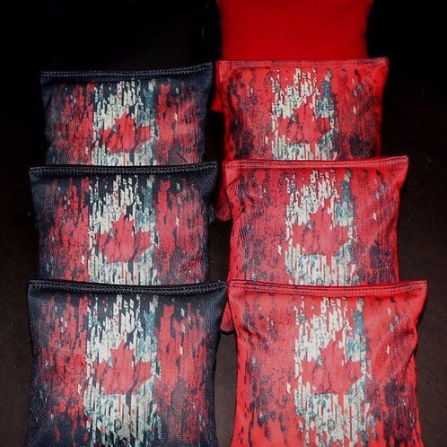 Canadian Flag Cornhole bags, set of (8)