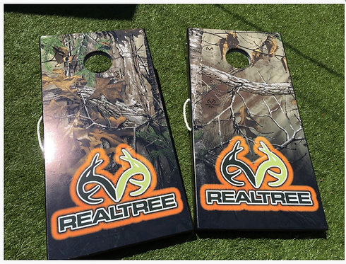 REALTREE CAMO ORANGE CORNHOLE BOARDS - Corn Bags -Free Shipping