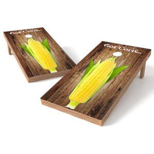 Corn Cob Cornhole Board Wrap