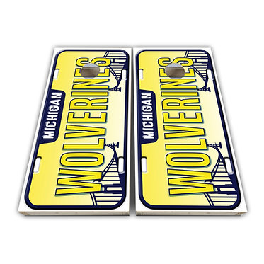 Michigan Wolverines Cornhole Wrap Cornhole Decal - Custom License Plate