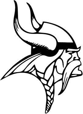 Viking Head Decal Sticker