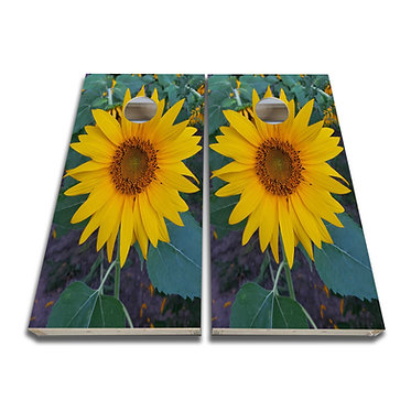 Sunflower Garden Sunflower Cornhole Board Decal Cornhole Skin