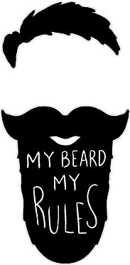 My Beard Cornhole Decal Sticker