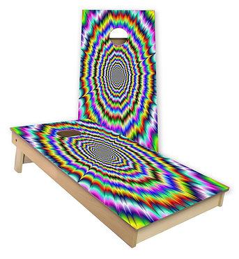 Optical Illusion Cornhole Board Wrap Baggo Bag Toss Corn Toss Wrap