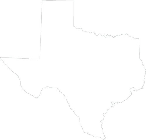 Texas State Outline Decal Sticker