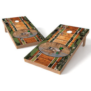 Mallard Ducks Wood Cornhole Wrap