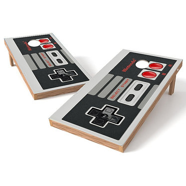 Retro Nintendo Controller Cornhole Wrap