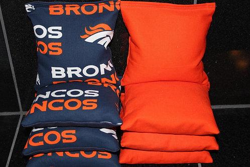 Denver Broncos Cornhole bags, set of (8)