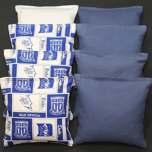 Duke Blue Devils Cornhole bags, set of (8)