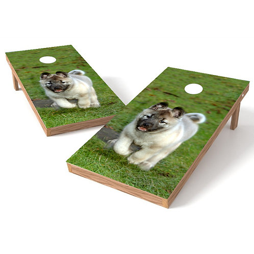 Puppy Happy Cornhole Board Wrap