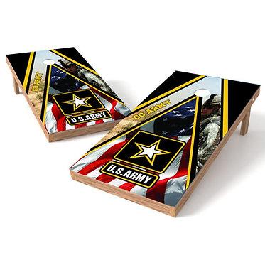 Army Flag Triangle Military Cornhole Wrap