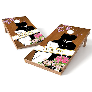 Mr. & Mrs. Wedding Cornhole Board Wrap - Personalize