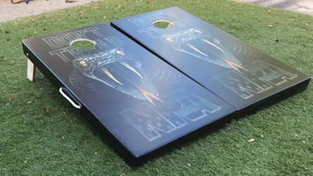 Direct Print on wood Cornhole Board Set