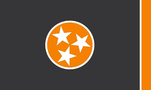Tennessee Flag Cornhole Board Decal Sticker