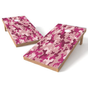 Ladies Pink Camo Cornhle Board Wrap