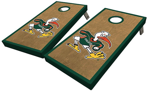 Miami IBIS UNIVERSITY OF MIAMI CORNHOLE BOARD SET - Free Shipping