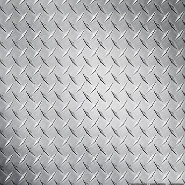Silver Diamond Plate Sheet Decal Sticker