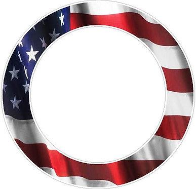 American Flag Hole Ring Cornhole Decal Sticker (set of 2)