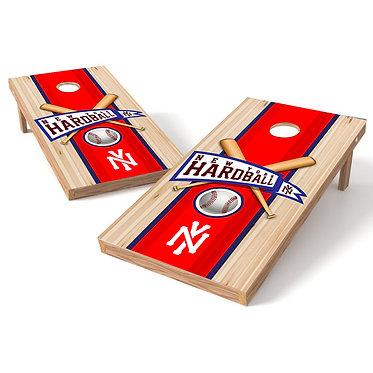 New York Hardball Baseball Cornhole Board Wrap