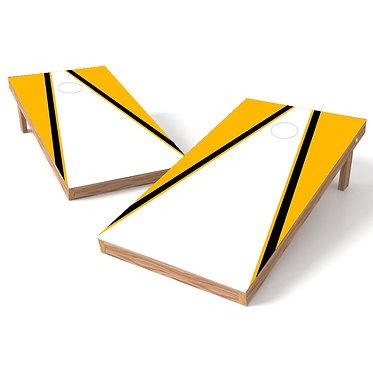 Open Triangle Cornhole Board Wrap - Add Logo