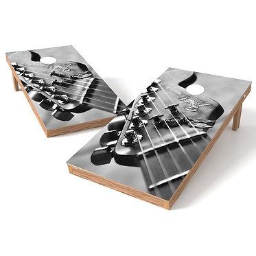 Fender Guitar Strings Decal Cornhole Board Wrap