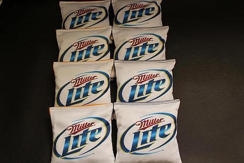 Miller Lite Cornhole bags, set of (8)
