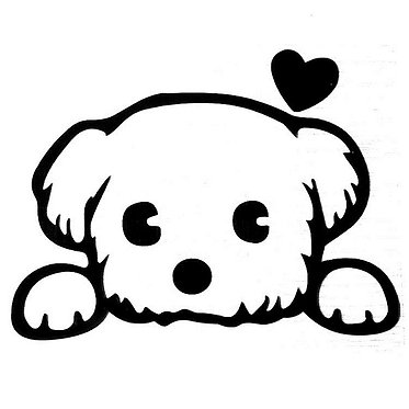 Puppy Love Cornhole Decal Sticker