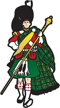 Highlander Cornhole Decal Sticker