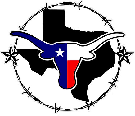 Texas State Wire Horn Decal Sticker