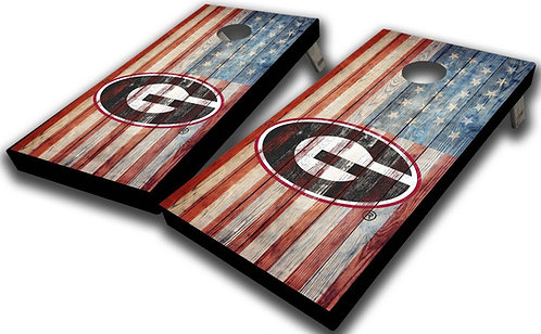 UNIVERSITY OF GEORGIA FLAG CORNHOLE BOARD SET - Free Shipping