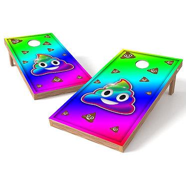 Emoji Poop Cornhole Board Wrap
