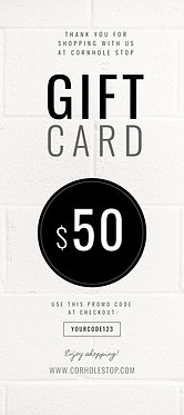 Cornhole Stop GIFT CARD - Select Amount