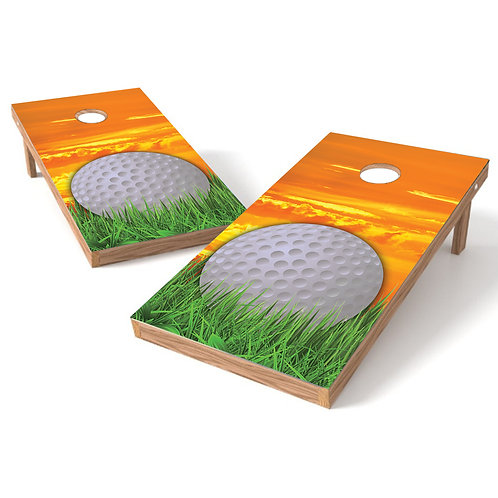 Golf Sunset Cornhole Board Baggo Bag Toss Cornhole Wrap